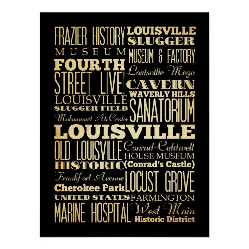Attractions & Famous Places of Louisville,Kentucky Posters