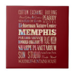 Attractions & Famous Places of Memphis, Tennessee. Ceramic Tiles