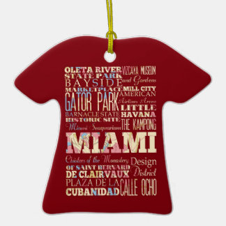 Attractions & Famous Places of Miami, Florida. Christmas Tree Ornaments