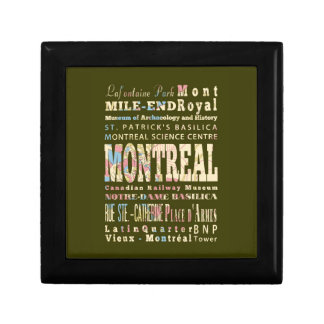 Attractions & Famous Places of Montreal, Québec. Keepsake Box