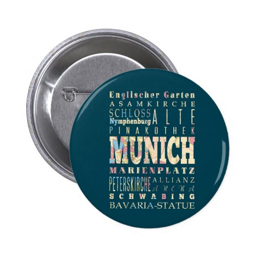Attractions & Famous Places of Munich,Germany. Button