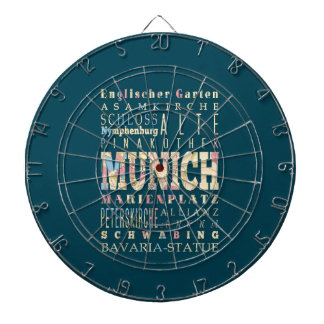 Attractions & Famous Places of Munich,Germany. Dartboard With Darts