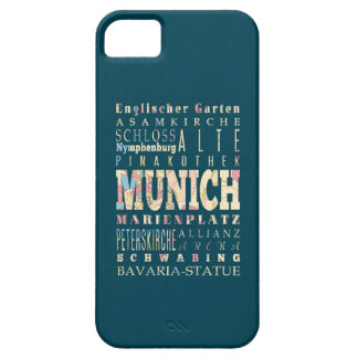 Attractions & Famous Places of Munich,Germany. iPhone SE/5/5s Case