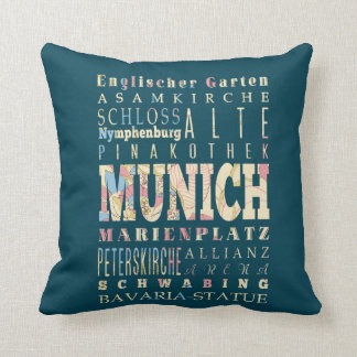 Attractions & Famous Places of Munich,Germany. Pillow