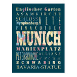 Attractions & Famous Places of Munich,Germany. Postcards