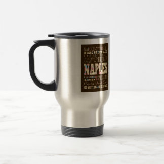 Attractions & Famous Places of Naples, Italy. Travel Mug