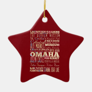 Attractions & Famous Places of Omaha, Nebraska. Christmas Tree Ornaments