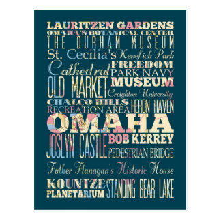 Attractions & Famous Places of Omaha, Nebraska. Postcard