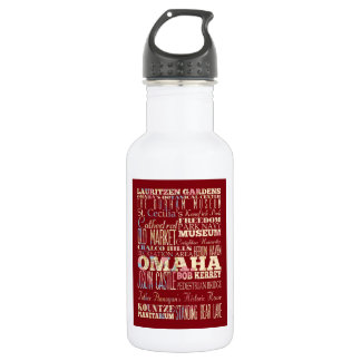 Attractions & Famous Places of Omaha, Nebraska. Water Bottle