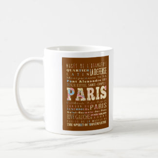 Attractions & Famous Places of Paris, France. Coffee Mug