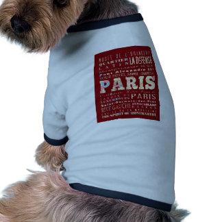 Attractions & Famous Places of Paris, France. Pet Tee Shirt