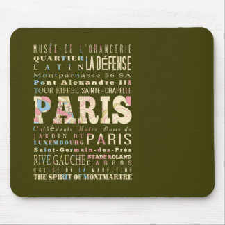 Attractions Famous Places of Paris France Mouse Pad