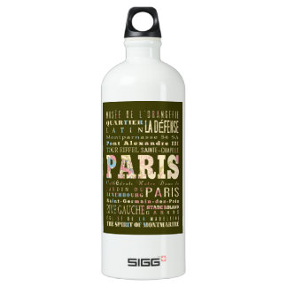 Attractions & Famous Places of Paris, France. SIGG Traveler 1.0L Water Bottle