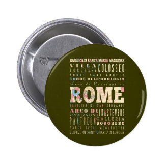 Attractions & Famous Places of Rome, Italy. Button