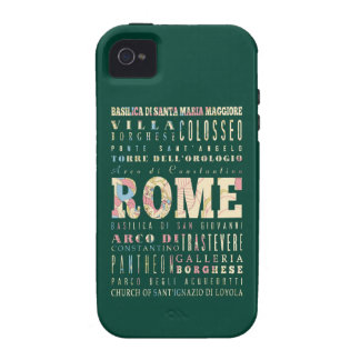 Attractions & Famous Places of Rome, Italy. iPhone 4 Covers