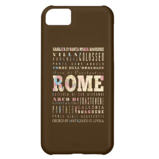 Attractions & Famous Places of Rome, Italy. iPhone 5C Covers
