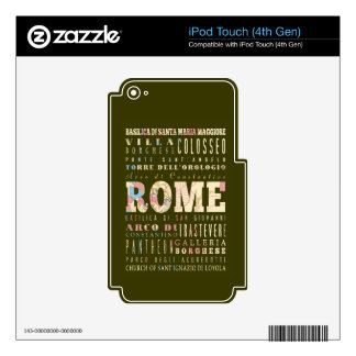 Attractions & Famous Places of Rome, Italy. Skins For iPod Touch 4G