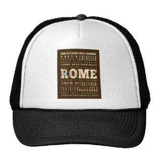 Attractions & Famous Places of Rome, Italy. Trucker Hat