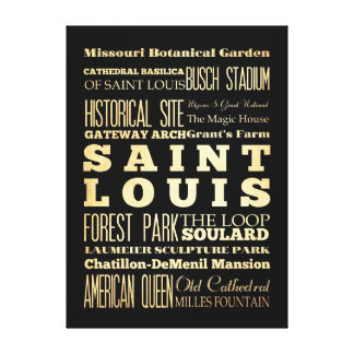 Attractions Famous Places of Saint Louis Stretched Canvas Print