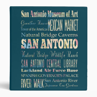 Attractions & Famous Places of San Antonio, Texas. 3 Ring Binder