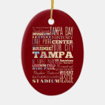 Attractions & Famous Places of Tampa, Florida. Ceramic Ornament