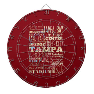 Attractions & Famous Places of Tampa, Florida. Dartboard With Darts
