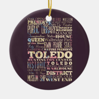 Attractions Famous Places of Toledo Ohio Christmas Tree Ornaments