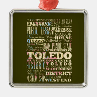 Attractions Famous Places of Toledo Ohio Christmas Ornament