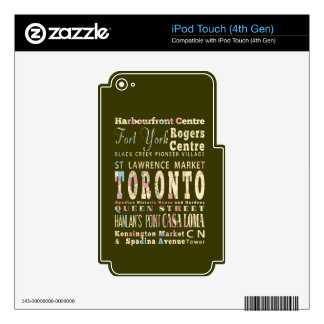 Attractions & Famous Places of Toronto, Canada. iPod Touch 4G Skins