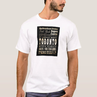 Attractions & Famous Places of Toronto, Canada T-Shirt