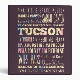 Attractions & Famous Places of Tucson, Arizona. Binder
