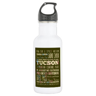 Attractions & Famous Places of Tucson,Arizona. 18oz Water Bottle