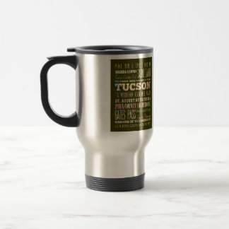 Attractions & Famous Places of Tucson,Arizona. Travel Mug
