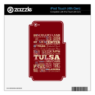 Attractions & Famous Places of Tulsa, Oklahoma. Skins For iPod Touch 4G