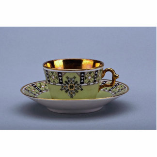 Attractive 20th century coffee cup and saucer standing photo sculpture