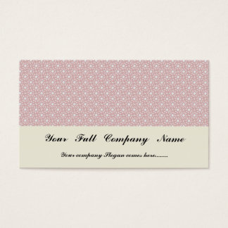 Attractive antique pink stems squares on white rou business card