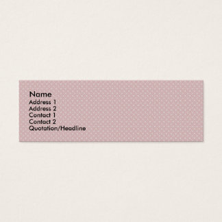 Attractive antique pink stems squares on white rou mini business card