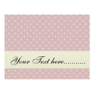 Attractive antique pink stems squares on white rou postcard