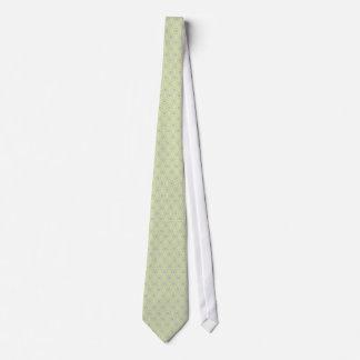 Attractive antique white stems squares on light bl neck tie
