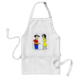 Attractive Calves? Funny Cartoon Tees & Gifts Adult Apron