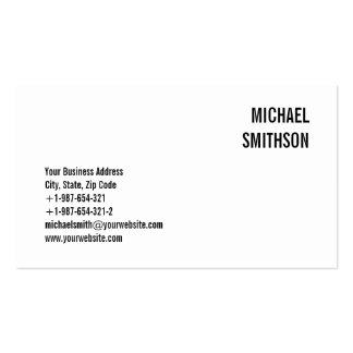 Attractive Charming Black & White Business Card