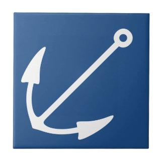Attractive Deep Ocean Navy Blue & Anchor Tiles