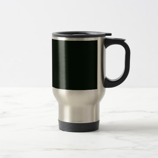 Attractive dull green flowers with leafy petals on 15 oz stainless steel travel mug