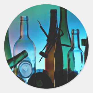 Attractive Empty bottles Round Stickers