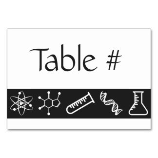 Attractive Forces in Black Table Card