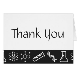 Attractive Forces in Black Thank You Card
