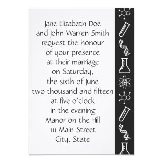 Attractive Forces in Black Wedding Invitation