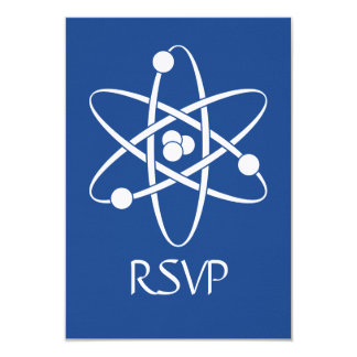 Attractive Forces in Blue RSVP Card
