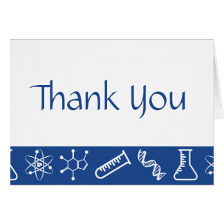 Attractive Forces in Blue Thank You Card