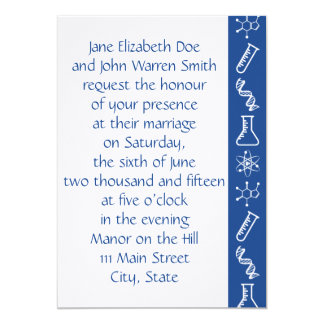 Attractive Forces in Blue Wedding Invitation